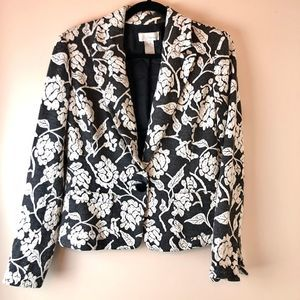 Spiegel | Floral Printed One Button Blazer
